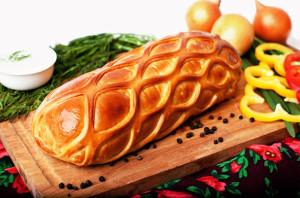 кулебяка с мясом рецепт с фото