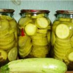 кабачки консервированные в маринаде рецепт с фото