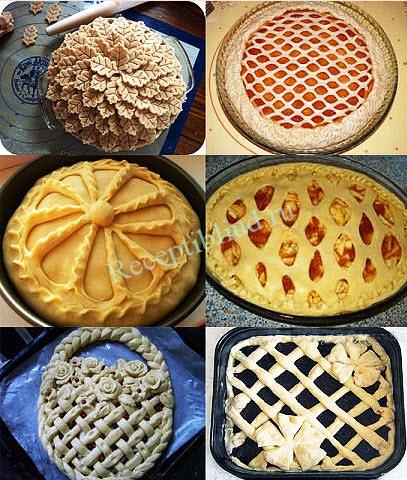 украшение пирогов рецепт с фото