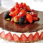 торт с клубникой фото