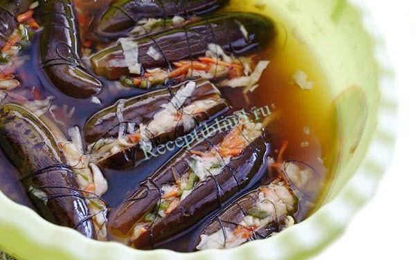 квашеные баклажаны с капустой рецепт с фото