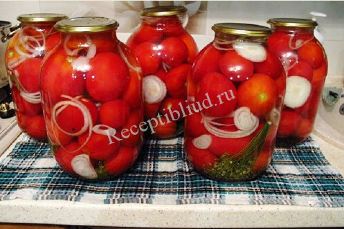 маринованные помидоры на зиму фото