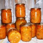 Салат из кабачков консервация рецепт с фото