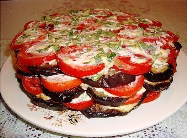 Закуска из баклажанов рецепт с фото