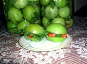зеленые соленые помидоры рецепт с фото