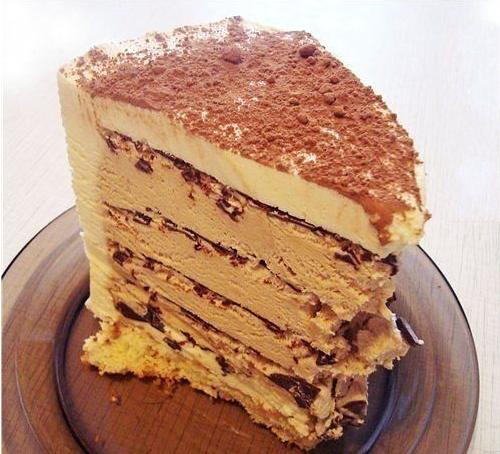 Торт Кофе с шоколадом без духовки фото