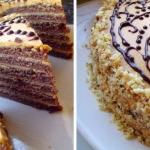 Шоколадный торт со сливочным кремом фото
