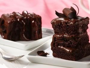 Быстрый пирог на кефире с шоколадом фото