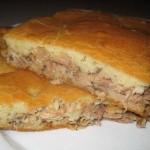 Пирог с сардинами и рисом фото
