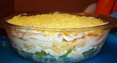 Слоеный салат Объедение