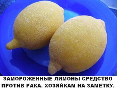 Замороженные лимоны — средство против рака Вы об этом не знали?