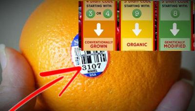 Если вы видите цифру 8 на наклейке на фрукте, не покупайте его!