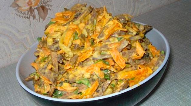 Печёночный салат — пальчики оближешь!