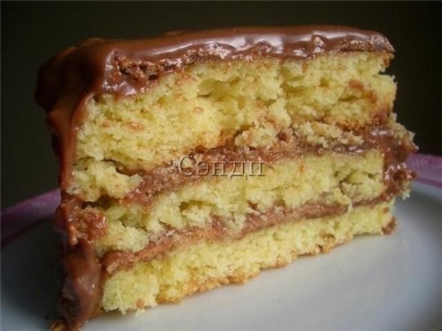 Очень быстрый ореховый торт без муки