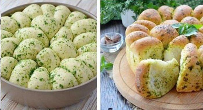 Домашний хлеб с чесночком