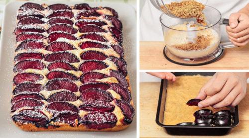 Миндальный пирог со сливами. Вкус интересный, однако!