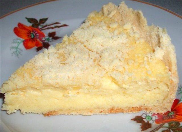Пирог с творогом - готовится быстро и просто тает во рту!