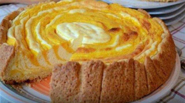 Пирог-суфле «полосатая тыква». Ну, очень вкусный