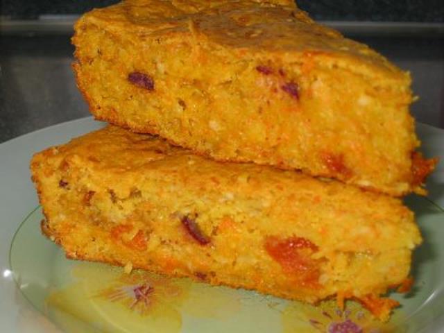 Тыквенно-овсяный пирог