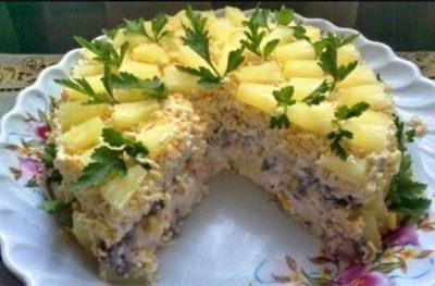 Торт салат «Чудо слойка»
