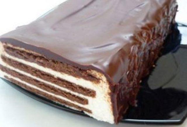 Творожный торт «Полосатый»