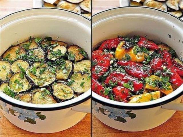 Чумовая закуска! Закуска из маринованных баклажанов и перцев — гриль