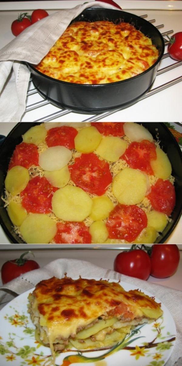 Лазанья картофельная Вкусная. Сочная. Горячая. Почти итальянская…