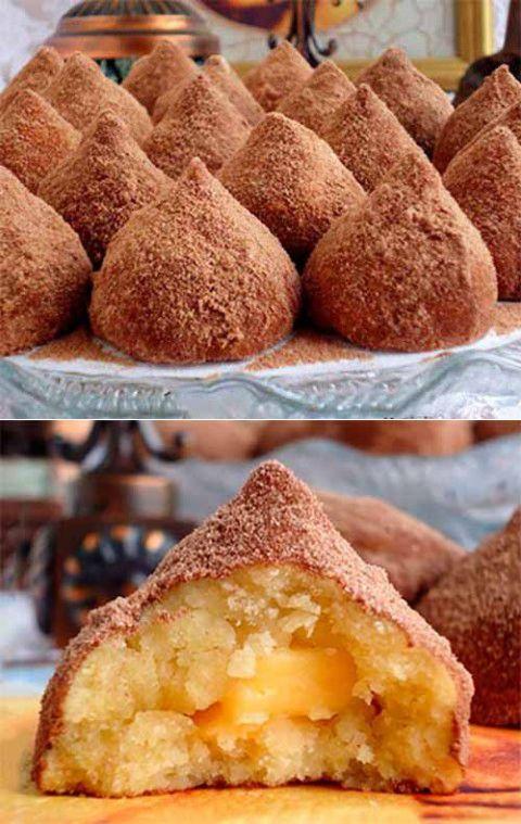 """ПЕЧЕНЬЕ """"ТРЮФЕЛЬ"""".   Печенье очень просто в приготовлении, но форма трюфеля всегда придает особый изыск изделию."""