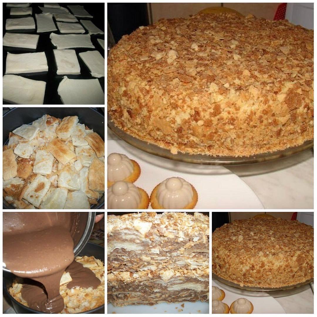 Оригинальный торт «Наполеон» (за пол часа)