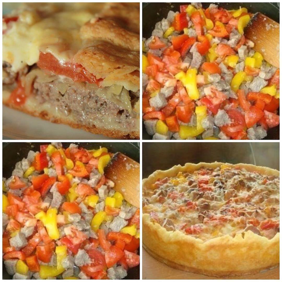 Открытый мясной пирог — просто восторг!