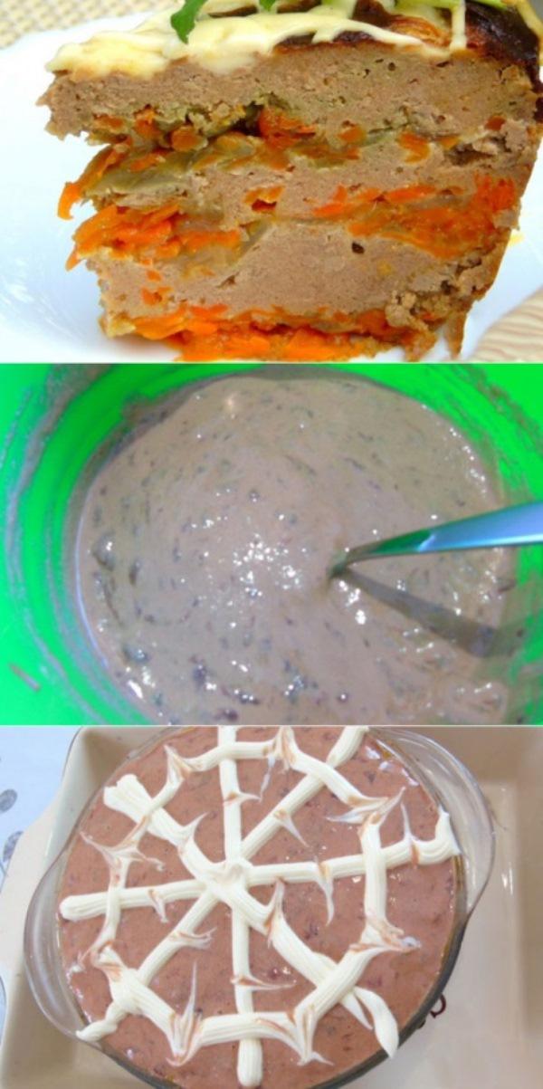 Очень вкусный, нежный печеночный тортик, при этом запеченный и без лишнего майонеза. Можно выпекать в духовке, а можно готовить в мультиварке.