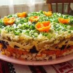 салат с куриной грудкой, фото