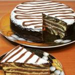 торт Зебра на сметане фото