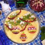 салат Новогодние игрушки фото