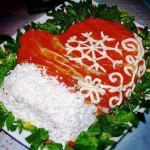 салат варежка Деда Мороза фото