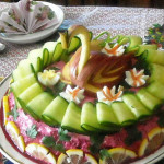 салат из копченной куры фото
