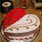 торт в форме сердца фото