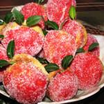 пирожные Персики рецепт с фото