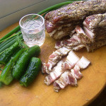 соленое сало со специями фото