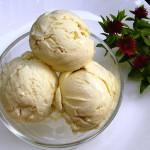Домашнее сливочное мороженое фото