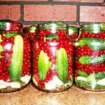 Консервированные огурцы с красной смородиной рецепт с фото