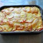 Запеканка из кабачков с фаршем и сыром