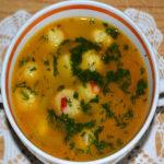 Суп с Сырными шариками Очень понравился моим домашним, а это дорогого стоит! Вкус, вид и аромат просто отпад