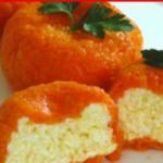 Новогодняя закуска «Мандаринки»