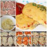 Свинина, запеченная с помидорами и сыром, получается очень сочной и пикантной. Такое блюдо можно смело приготовить для праздничного стола или на воскресный обед.