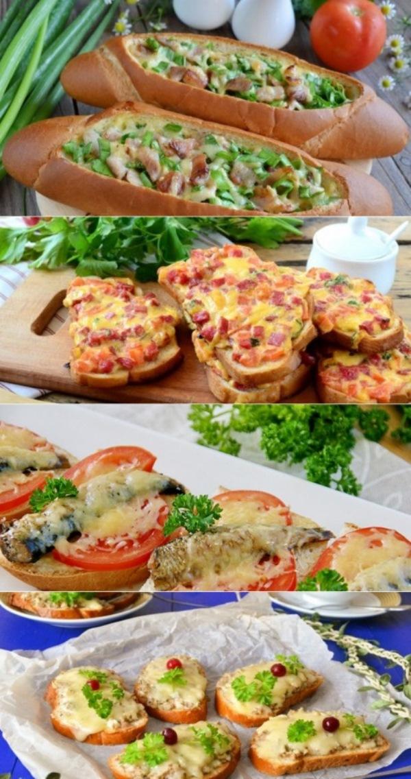 Бутерброды в духовке - рецепты горячей закуски на скорую руку с колбасой, сыром, шпротами и грибами