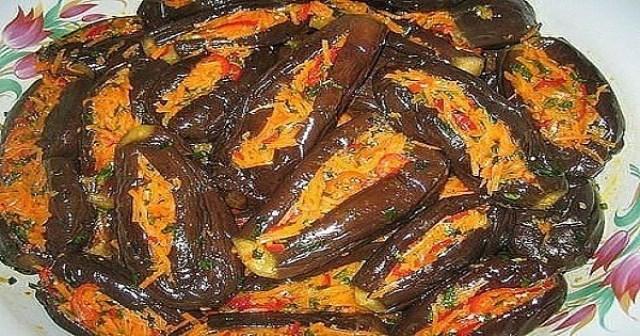Манзаны — фаршированные баклажаны по-гречески. Неземной вкус! Отличная заготовка на зиму.