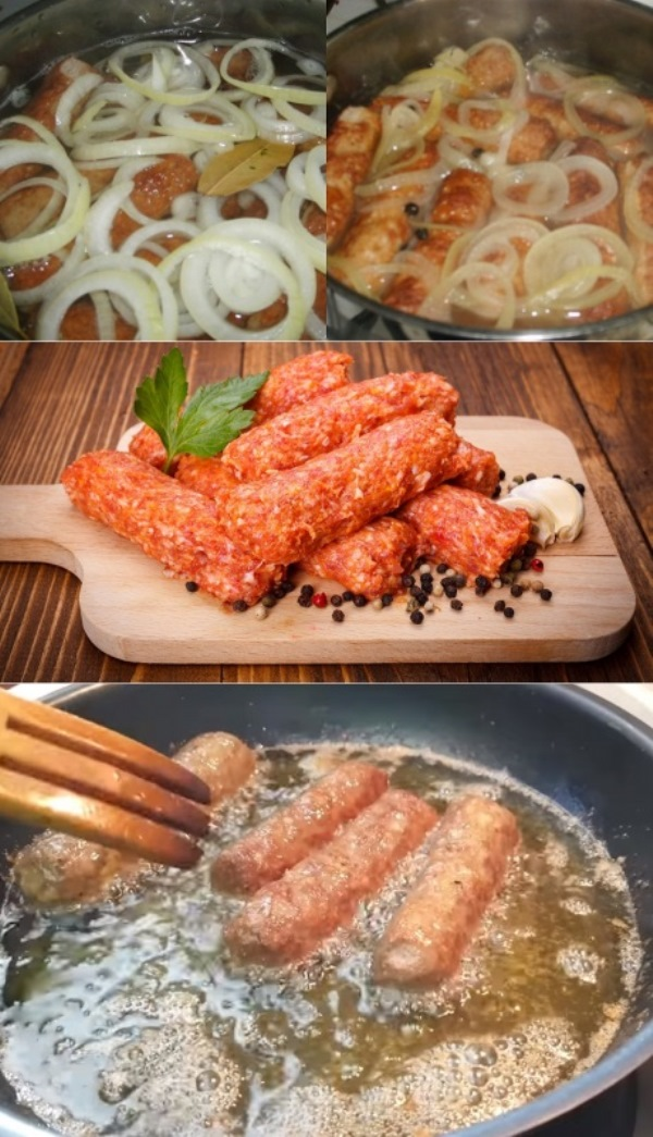 Вот как приготовить мититеи - обжаренные колбаски без оболочки