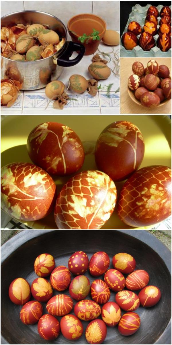 Как правильно покрасить яйца в луковой шелухе.