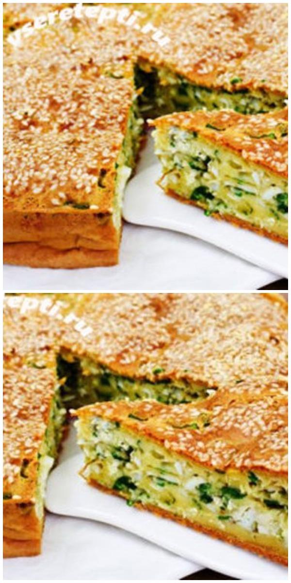 Пирог с бесподобной начинкой. Быстро, сытно и очень вкусно!
